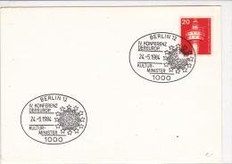 Motive - Culture: 1984 Berlin Berlin Cachet: IV. Conference European Culture Ministers - On Card  (G37-27) - Briefmarken