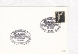 Motive - Culture: 1981 Germany Rendsburg Cachet: Rendsburger Kulturkreis German-English Weekend On Card  (G37-26) - Stamps