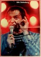 Kleines Poster  -  Udo Lindenberg  -  Rückseite : Clint Eastwood  -  Von Pop-Rocky Ca. 1982 - Plakate & Poster
