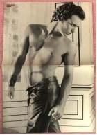 Kleines Poster  -  Adam Ant  -  Rückseite : Leigh McCloskey  -  Von Bravo Ca. 1982 - Plakate & Poster