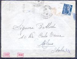 Lettre  AUBERVILLIERS Annee 1940   CENSURE ALLEMANDE Pour MILAN - WW II