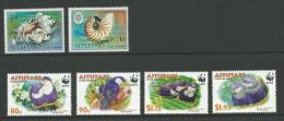 WWF Set Of 4 Complete MUH On Rear And Two Other Defin Stamps  Good Scott Catallogue Value - Aitutaki