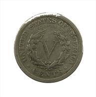 Etats-Unis - USA - V Cents - 1907 - TB - Ni. - Federal Issues