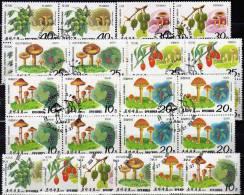 Pilze Beeren Der Natur 1989 Korea 2999/4 Plus 4-Block O 10€ Agaricus Egerling Zigeuner Röhrling Mushrooms Sheet Bf Corea - Corée Du Nord