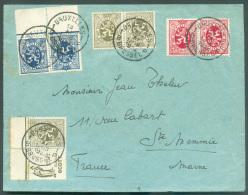 TB N°4-5-8 + PUB N°13 Obl. Sc BRUXELLES 1 Sur Lettre Du 18-XI-1932 Vers La France  - 9067 - Advertising