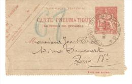 CARTE PNEUMATIQUE DE 1931 - Postmark Collection (Covers)