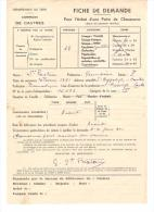 FICHE DE DEMANDE D'ACHAT D'UNE PAIRE DE CHAUSSURES - Documenti