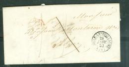 LAC DE SILLE LE GUILLAUME En Port Local 1 Décime  + CACHET Cl En Rouge , Pour Rouez En 1852 - Am9115 - 1849-1876: Klassik