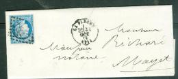 Oblitération Gros Chiffres 1517 , Sur LACde La Flèche En 1872 POUR MAYET - Am9129 - Marcofilia (sobres)
