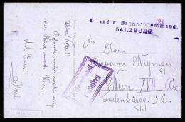 A2090) Austria Österreich Karte Vom K.u.k. Bahnhofskommando Salzburg - Briefe U. Dokumente