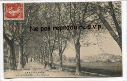 -  452 - COGOLIN - Vue Générale En 1909, Allée De Platanes, Splendide, Petite Animation, Rare, écrite, TBE, Scans. - Cogolin