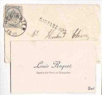 Louis RAQUET SART LEZ SPA ( Jalhay ) 1898 Cantonnier Des Ponts & Chaussées  Griffe Sart Lez Spa - Cartes De Visite
