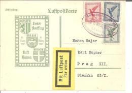 W-L028/ Erster  Postflug, Fugetappe Dresden-Prag   Dresden Nach Prag  21.3.27 - Deutschland