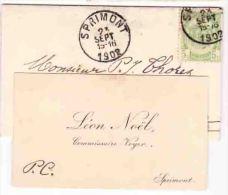 SPRIMONT 1902 LEON NOEL  Commissaire Voyer - Cartes De Visite