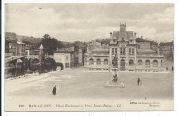 BAR LE DUC -PLACE EXELMANS ET PONT (DOTRE ?) NOTRE DAME -Meuse (55) -Edt. Magasins Réunis - Bar Le Duc