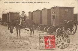 59 . MALO-LES-BAINS   ---   CABINES ROULANTES A LA PLAGE - Malo Les Bains