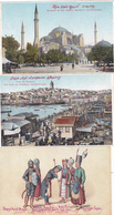 LOT 8 ITEMS POSTCARDS SEE SCAN IMAGE!CPA,CONSTANTINOPOLE,SERAS KERAT,UNUSED,TURKEY - Turquie