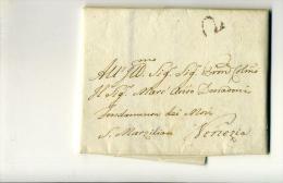 DC506-REP.VENETA 1788 Lettera Contenuto  PADOVA-VENEZIA-da Carlo DELL'ACQUA (famiglia Di Librai)-TIMBRO TASSA 2 SOLDI - Italien