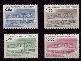 """Lot 185 - B 17 - Finlande **  N° 14 à 17 - Tbres Pour Colis Par Autobus - Autobus """"Sisu"""""""