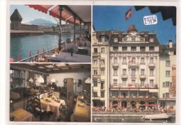 CPM GF ( Carte Pub Au  Format) - 23736 -Suisse - Lucerne - Hotel Des Alpes - 2scans) - LU Lucerne