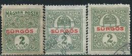 Ungheria 1916/9 Giornali Usato - 3 Valori - Uno Nuovo L* - Newspapers