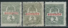 Ungheria 1916/9 Giornali Usato - 3 Valori - Newspapers
