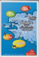 = Finistère Terre De 5 Festivals D'été Morlaix, Landerneau, Crozon, Plozével Et Quimper, Collector 10 Tvp Lettre Verte - France