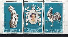 Nlles HEBRIDES - 538/540**  - 25è ANNIVERSAIRE DU COURONNEMENT DE ELIZABETH II - Neufs