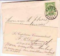DANTHINNE Capitaine Commandant De Corps De La GENDARMERIE  Antwerpen Anvers 1903 - Cartes De Visite
