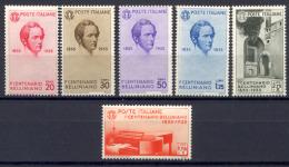 Italia Regno 1935 Bellini Sass.388/93 */MH VF - Nuevos
