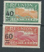 Réunion  N° 97 / 98  X  Partie De Séris : Les  2  Valeurs Surchargées  Trace De Charnière Sinon  TB - Reunion Island (1852-1975)