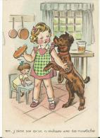 Enfant : Moi , J ' Aime  Pas  Qu 'on  M '  Embrasse  Avec Des  Moustaches   (  Chien ) - Bambini