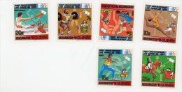 Guinée,EspaceEquitation,canoe JO Los AngelesYT703/6+PA***MNH-VALE UR 12 EURO - Sommer 1984: Los Angeles