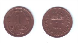 Hungary 1 Filler 1934 - Hongrie