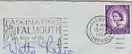1964 COVER PALM TREE Pic FASCINATING FALMOUTH CORNISH RIVIERA SLOGAN Pmk  Gb Stamps Trees - Trees