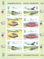 2013. RCC, Postal Transport, Sheetlet Imperforated, Mint/** - Tadschikistan