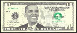 U.S.A.   FICTIF 44 DOLLARS  OBAMA  Serie 2013 B      DATE 2013       UNC. - Specimen