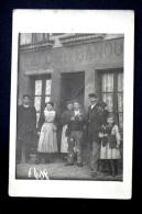 Café De La Banque Société Générale - Commerce Bistrot Bar Vers 1910 - Lieu à Identifier - Cafés