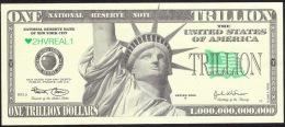 US.A.  FICTIF  1.000.000.000.000  DOLLARS   LIBERTY DATE 2006  UNC. - Specimen