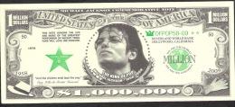 US.A.  FICTIF  1.000.000 DOLLARS   MICHAEL JACKSON DATE 2009  UNC. - Specimen