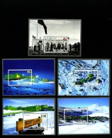 NEW ZEALAND - 2007  ANNIVERSARY OF SCOTT BASE SET OF FIVE  MS  MINT NH - Blocchi & Foglietti