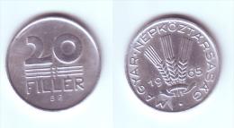 Hungary 20 Filler 1965 - Hongrie