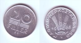 Hungary 20 Filler 1966 - Hongrie