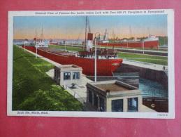 Sault Ste Marie,MI--General View Of Soo Locks--not Mailed--PJ 187 - United States