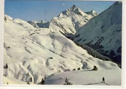LECH Am Arlberg, Ski Geher Am Petersboden Mit Blick Auf Brüstegg Und Biberkopf 1982 - Lech