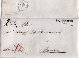 18?? Pommern, Vorphila Brief Mit Siegel, BALDENBURG - BERLIN - Deutschland