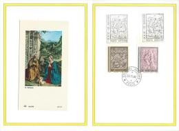 1982. VATICAN .SPECIAL SOUVENIR 4 PAGE  FOLDER  WITH VATICAN  STAMPS - FDC