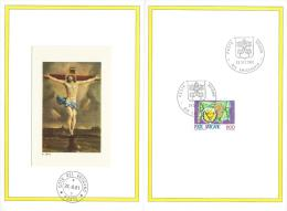 1981. VATICAN. SPECIAL SOUVENIR 4 PAGE FOLDER  WITH VATICAN STAMPS - FDC