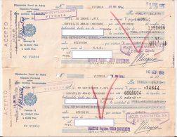 ALAVA, Letras De Cambio Antiguas, Clase 10, Banco Guipuzcoano X2 (lote Bis) - Letras De Cambio