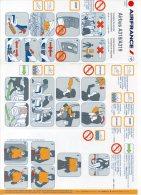 SAFETY CARD - AIR FRANCE - A318/A319 - REF 9005571 - 10/2010 - A Voir ! - - Consignes De Sécurité